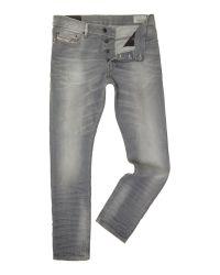DIESEL Gray Tepphar 839N Coloured Wash Mid Rise Jeans for men