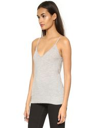 Equipment Gray Cashmere Layla Tank