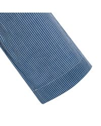 Paul Smith | Blue Rope-Stripe Cotton Overshirt for Men | Lyst