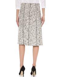 Nina Ricci - Black Tweed Skirt - Lyst
