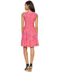 Issa Pink Bay Fit And Flare Dress - Coral