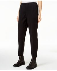 Eileen Fisher | Black Slim-leg Ankle Pants | Lyst