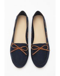 Forever 21 Blue Faux Suede Loafers