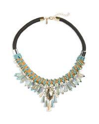 TOPSHOP | Multicolor Pendant Collar Necklace | Lyst