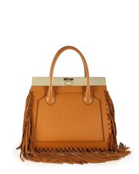 Dee Ocleppo | Brown Roma Medium Convertible Fringed Leather Tote | Lyst