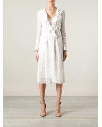 Dolce & Gabbana - White Lace Wrap Dress - Lyst