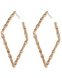 Alexis Bittar Metallic Encrusted Spear Earring With Infinity Wire You Might Also Like