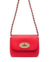 54b7698901 Mulberry Mini Lily Grained Leather Shoulder Bag in Pink - Lyst