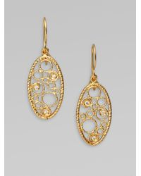 Roberto Coin - Metallic 18k Gold Diamond Bollicine Earrings - Lyst