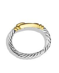 David Yurman - Metallic Cable Buckle Bracelet With Gold - Lyst