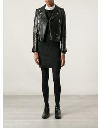 Saint Laurent Black Classic Biker Jacket