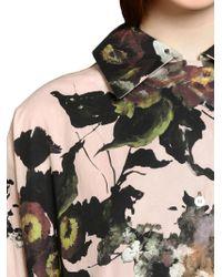 Antonio Marras Multicolor Floral Shirt Dress