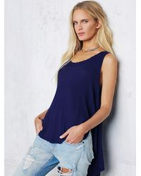 Free People | Blue Womens We The Free Monroe Tank | Lyst