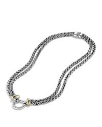 David Yurman | Metallic Double Wheat Chain Necklace With Gold, 16"