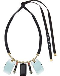 Marni | Green Resin Drop Pendant Necklace | Lyst