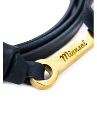 Miansai - Black Anchor Wrap Bracelet - Lyst