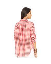 Denim & Supply Ralph Lauren | Red Checked Utility Shirt | Lyst