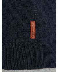 Ben Sherman - Blue Textured Crew Neck Button Jumpers for Men - Lyst