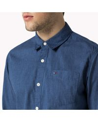 Tommy Hilfiger | Blue Cotton Regular Fit Shirt for Men | Lyst