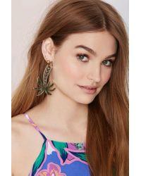 Nasty Gal | Metallic Vera Xane Paradise City Palm Tree Earrings | Lyst