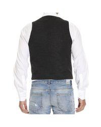 Emporio Armani - Gray Giorgio Armani Men's Waistcoat for Men - Lyst