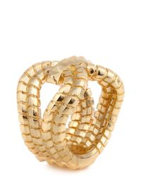 Lara Bohinc | Metallic Gagarin 18 Karat Gold Plated Ring | Lyst