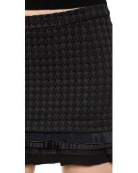 N°21 - Tiered Hem Miniskirt - Black - Lyst