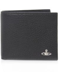 Vivienne Westwood | Black Punk Grained Leather Orb Wallet for Men | Lyst