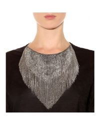 Isabel Marant - Metallic Plastron Necklace - Lyst