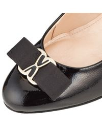 John Lewis Black Made In England Amersham Bow Detail Closed Court Shoes