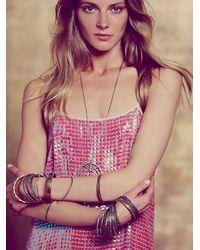 Free People Pink Womens Iridescent Sequins Slip Dress