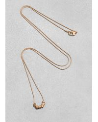 & Other Stories | Metallic Snake Chain Necklace | Lyst