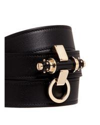 Givenchy Black 'obsedia' Stud Triple Wrap Leather Bracelet