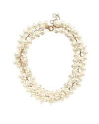 J.Crew - White Pearl Cluster Necklace - Lyst