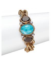 Stephen Dweck | Metallic Turquoise Linked Bracelet | Lyst