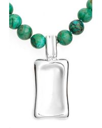 Simon Sebbag | Green Beaded Pendant Necklace | Lyst
