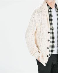 Zara | Natural Structured Shimmer Jacket for Men | Lyst