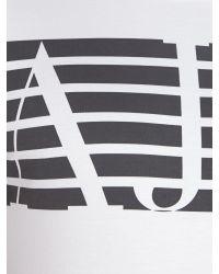 Armani Jeans | White Regular Fit Eagle Logo Print T-shirt for Men | Lyst
