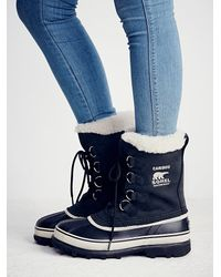 Free People | Black Caribou Weather Boot | Lyst