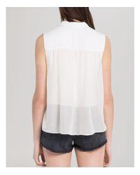 Sandro White Shirt - Carmella Sleeveless