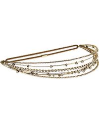Jennifer Behr Metallic Zodiac Circlet, Women's, Crystal Antique Gold