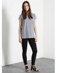 Warehouse Blue Stripe Boyfriend T-shirt