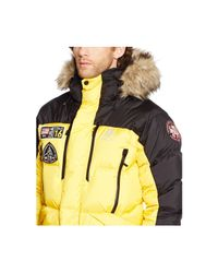 Polo Ralph Lauren | Yellow Rlx Expedition Down Jacket for Men | Lyst