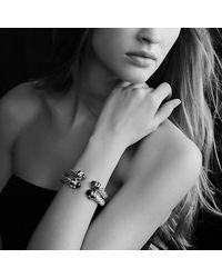 David Yurman | Blue Renaissance Bracelet With Gold, 8.5mm | Lyst