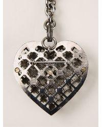 Lanvin Black Embellished Heart Pendant