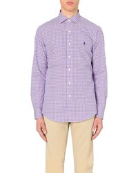 Ralph Lauren | Purple Checked Cotton Shirt for Men | Lyst