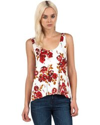 Volcom Red 'secrecy' Mixed Print Tank