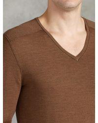 John Varvatos | Natural Superfine Merino Wool Sweater for Men | Lyst