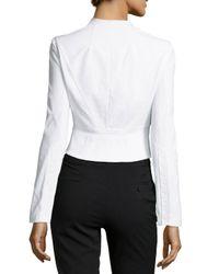 Zac Zac Posen - White Cropped Seamed Suiting Jacket - Lyst