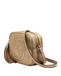Gucci - Soho Metallic Leather Disco Bag - Lyst